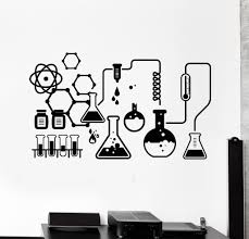 Vinyl Wall Decal Science Chemical Lab Scientist Chemistry School Stickers Unique Gift Ig4682 Vinyl Wall Stickers Chemistry School Stickers