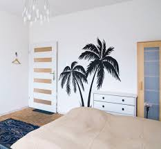 Palm Trees Silhouettes Summer Wall Decal Surfer Surfing Wave Ocean Water Swim Wave Hang Loose Beach Paradise Good Vibes