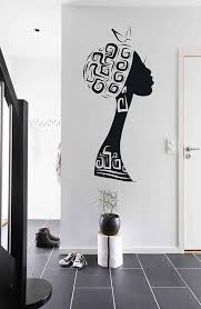 African Woman Wall Decals Afro Wall Decal African Art Afro Etsy