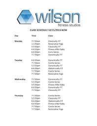 open gym cl schedule pdf wilson