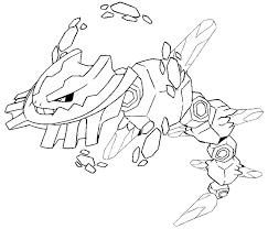 Kleurplaat Pokemon Mega Evolutie Mega Steelix 208 208