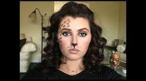 cheetah print halloween makeup tutorial