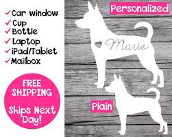 Rat Terrier Decal Rat Terrier Name Decal Personalized Rat Etsy