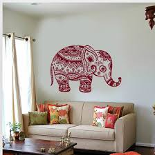 Wall Vinyl Decal Animals Elephant Ornament African India Giant Etsy