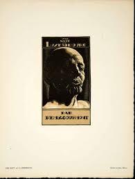 1930 Lithograph SImeon Une nuit au Luxembourg Remy de Gourmont ...