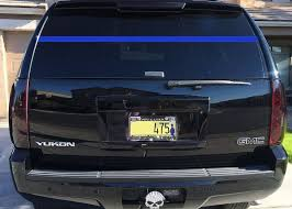 Leo Police Support Thin Blue Line Rear Window Decal Law Enforcement Wa Lucky Girl Decals