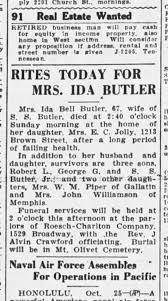 Ida Butler Obituary 1936 - Newspapers.com