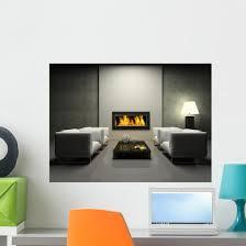 Modern Interior With Fireplace Wall Decal Wallmonkeys Com