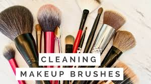 cleaning my makeup brushes for first