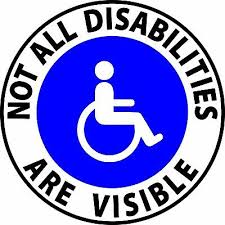 Not All Disabilities Are Visible Handicap Sticker Vinyl Decal Ebay