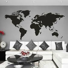 World Map Wall Sticker Inspirational Big Global Vinyl Office Removable Art Decor Ebay