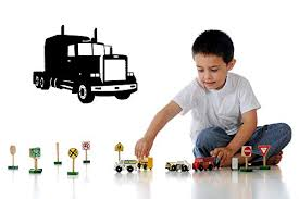 Amazon Com Semi Truck 18 Wheeler Truck Decals Truck Wall Decals Boys Wall Art Wall Decal Playroom Decor Home Decor Daycare Decor Trucker Gift Made In Usa Home Kitchen