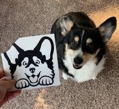 Corgi Peeking Car Decal Corgi Car Sticker Decals For Corgi Etsy Corgi Grand Dog Corgi Dog
