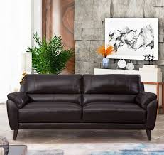 zamora leather sofa brown abbyson
