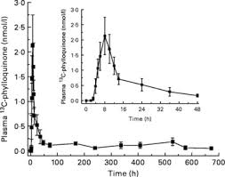 Vitamin K absorption and kinetics in human subjects after consumption of  13C-labelled phylloquinone from kale