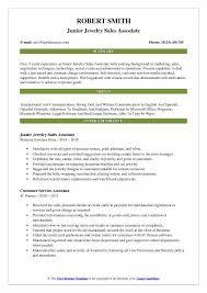 jewelry s ociate resume sles