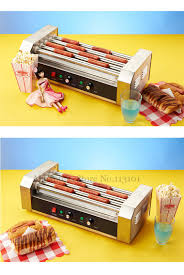 Hot Dog Con Lăn Lò Nướng Máy Thép Không Gỉ Thương Mại Chất Lượng Hotdog  Maker với 5 Grill Con Lăn|roller grill|nướng con lănhot dog roller grill -  AliExpress
