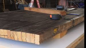 diy bowling lane coffee table modern