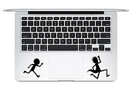 Trackpad Rick And Morty Running Apple Macbook Laptop Vinyl Sticker Decal Keyboard Decal Laptop Decal Apple Stickers