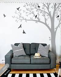 Grey Tree Branch Birds Vinyl Decal Wall Stickers Mural Art Decor Walldecaldesigns