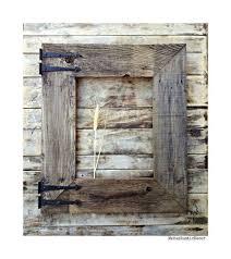reclaimed rustic barnwood wall frame