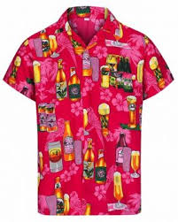 Pink Beer Print Hawaiian Shirt – Hawaiian Shirts Online