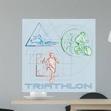 Triathlon Wall Decal Wallmonkeys Com
