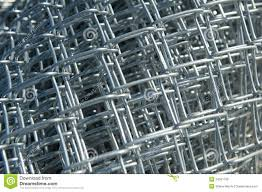 Roll Of New Chain Link Fencing Material Stock Image Image Of Layers Background 34051739