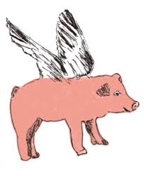 Flying Pig Fabric Wall Stickers Sian Zeng In Three Colors