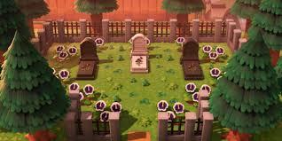 Animal Crossing New Horizons Graveyard Design Ideas Tips