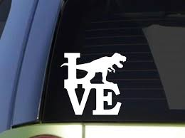 T Rex Love 6 Inch Sticker Decal T Rex Dinosaur Fossils Window Sticker Aliexpress