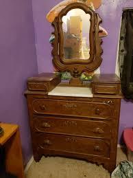 antique walnut victorian marble top
