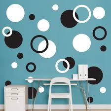 Black And White Polka Dots Realbig Wall Decal En 2020 Colores Para Pintar Casas Pinturas De Pared Paredes Pintadas