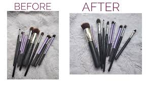 guide to clean makeup brushes