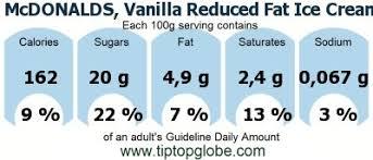 vanilla reduced fat ice cream cone