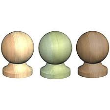 Round Wooden Post Top Finial Ball For 3 75mm Post Cap Untreated Green Brown Brown Treated Amazon Co Uk Diy Tools