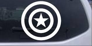 Captain America Shield Car Or Truck Window Decal Sticker Rad Dezigns
