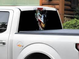 Product Pow Mia Not Forgotten Rear Window Wrap Graphic Decal Sticker Truck Suv Pick Up