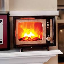 decorative realistic fireplace compact