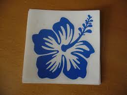 Hawaii Hawaiian Islands Hibiscus Flower 3 Vinyl Window Decal Car Bumper Sticker