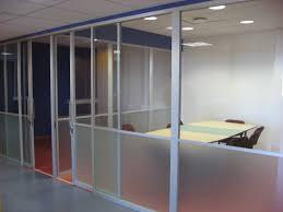 aluminium framed glass partiton walls