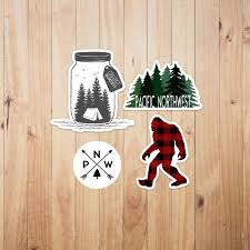 Pnw Sticker Pack Pacific Northwest Car Decal Bundle Etsy