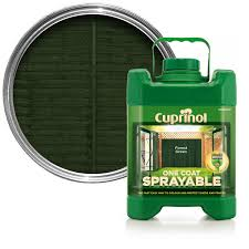 Cuprinol One Coat Sprayable Forest Green Fence Shed Wood Treatment 5l Departments Diy At B Q