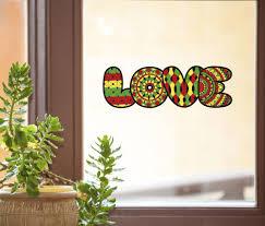 The Decal Store Com By Yadda Yadda Design Co Clr Wnd Love Rasta See Through Vinyl Window Decal C Yydc 8 W X 2 5