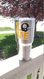 Steelers Love Tumbler Vinyl Decal Fits 30oz 20oz Tumblers Buy 2 Ge Gamedaydecals