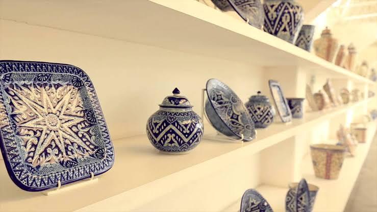 piezas de talavera en exhibición