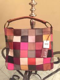 kooba patchwork suede hobo bag multi