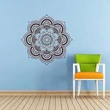 Mandala Wall Decal Namaste Flower Mandala Indian Lotus Yoga Wall Vinyl Decals Sticker Home Interior Wall Decor For Any Room Housewares Mural Design Graphic Bedroom Wall Decal Bathroom 5924 Amazon Com