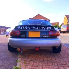 Rear Wing Spoiler Stickers Saitoworks