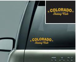 Colorado Skating Club Long Logo Car Decal Monograms By K K